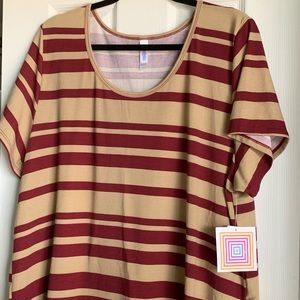 Lularoe Women's Classic T Striped shirt top 3XL